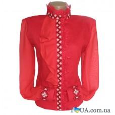 """Женская вышиванка """"Красный стиль+"""""""