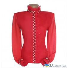 """Женская вышиванка """"Красный стиль"""""""